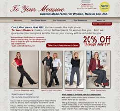 To Your Measure Website